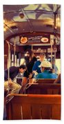 Inside The St. Charles Ave Streetcar New Orleans Beach Towel