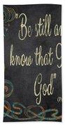 Inspirational Chalkboard-b Beach Towel