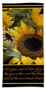 Inspirational Sunflowers Beach Towel