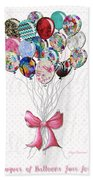 Inspirational Uplifting Floral Balloon Art A Bouquet Of Balloons Just For You By Megan Duncanson Beach Towel
