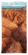 Interesting Desert Landscape Beach Towel