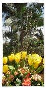 Interior Decorations Butterfly Gardens Vegas Golden Yellow Tulip Flowers Beach Towel