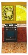 Interior Design Idea - Sweet Orange - Kiwi - Lemon Beach Towel