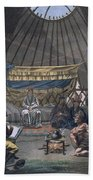 Interior Of A Kalmuk Yurt, 1812-13 Beach Towel
