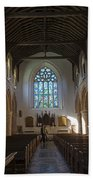 Interior Of St Mary's Church In Rye Beach Towel