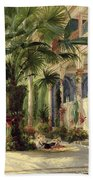 Interior Of The Palm House At Potsdam Beach Towel