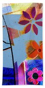 Interstate 10- Exit 256- Grant Rd Underpass- Rectangle Remix Beach Towel