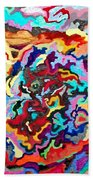 Intertwined Rainbow Beach Towel