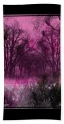 Into A Dark Pink Forest Beach Towel