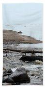 Into Lake Superior Beach Towel