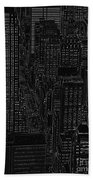 Into Nyc White On Black Beach Towel