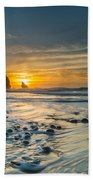 Into The Blue I Beach Towel by Marco Oliveira