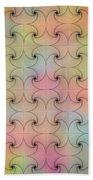 Intricacy Digital Seamless Design Beach Towel