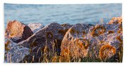 Inverness Beach Rocks  Beach Towel