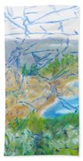 Invisible World Over Landscape Beach Towel