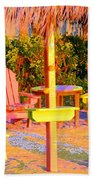 Invitation To Florida Sunset Beach Towel