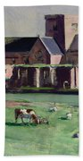 Iona Abbey From The Northwest Beach Towel