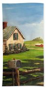 Cherokee Iowa Farm House Beach Towel
