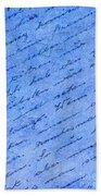 Iphone Case Blue Handwriging Beach Towel