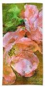 Iphone Pink Rose Digital Paint Beach Towel