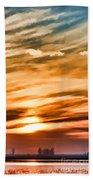 Iphone Sunset Digital Paint Beach Towel