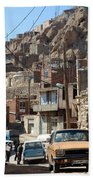 Iran Kandovan Cars And Wires Beach Towel