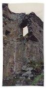 Ireland Minard Castle Ruins By Jrr Beach Towel