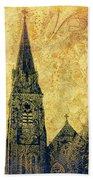 Ireland St. Brendan's Cathedral Spire Beach Towel