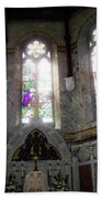 Ireland St. Brendan's Cathedral Stained Glass Beach Towel