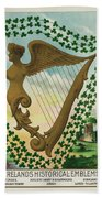 Irelands Historical Emblems Beach Towel