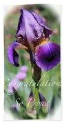 Iris Congratulations Card Beach Towel