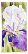 Iris Flower Purple Dance Beach Towel