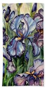 Iris Garden Beach Towel