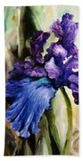Iris In Bloom 2 Beach Towel