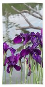 Iris Purple Lavender Beach Towel