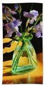 Irises In Morning Light Beach Towel