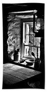 Irish Cottage Window Beach Towel