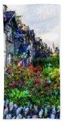 Irish Garden Water Color Beach Towel