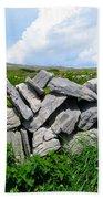 Irish Stone Wall Beach Towel