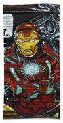 Iron Man Graffiti Beach Towel