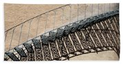 Iron Stairs Shadow Beach Towel