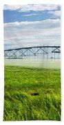 Irrigation On Saskatchewan Farm Beach Towel by Elena Elisseeva