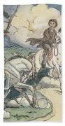 Irving: Sleepy Hollow, 1849 Beach Towel