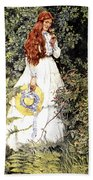 Is She Not Pure Gold My Mistress Beach Towel by Eleanor Fortescue Brickdale