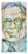 Isaac Asimov Portrait Beach Towel