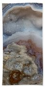 Iside A Geode Beach Towel