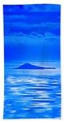 Island Of Yesterday Wide Crop Beach Towel