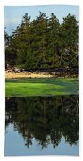 Island Reflection Beach Towel