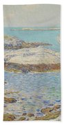 Isles Of Shoals Beach Towel by Childe Hassam
