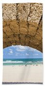 Israel Caesarea Aqueduct  Beach Towel
